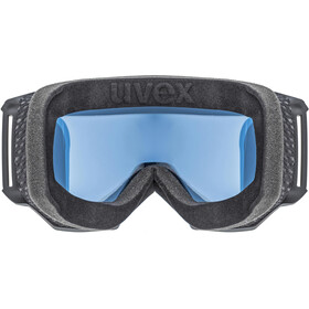 UVEX Athletic FM Gafas, black mat/fullmirror silver